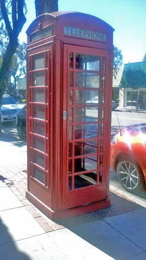 Laguna Beach Red Telephone Booth Temporary Art Installation 2016