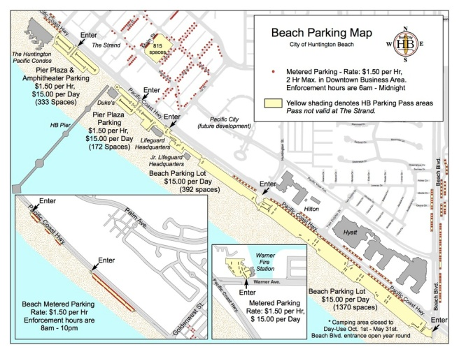 Huntington Beach Beach Parking Map