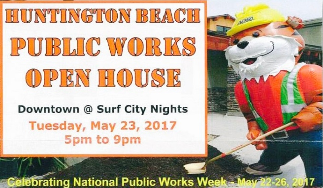 Huntington Beach Surf City Nights Public Works Open House May 23 2017
