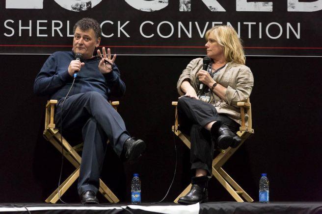 Steven Moffat and Sue Vertue Courtesy of SherlockedUSA.com