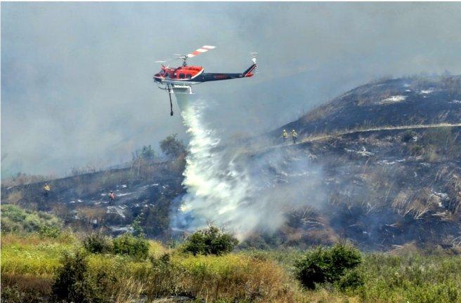 Camp Pendleton Fire Image Courtesy of USFS-California, CAL Fire and OCFA PIO