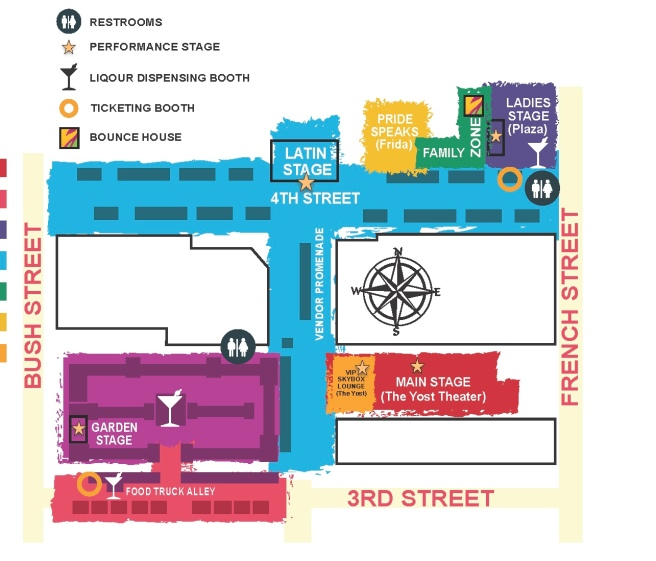 OC Pride Festival Map June 24 2017 Map