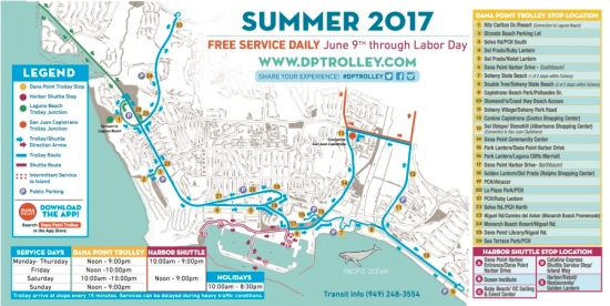 Dana Point Trolley 2017 Map