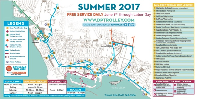 Dana Point Trolley 2017 Map