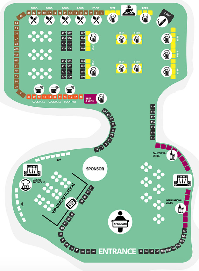 Dana Point Food Wine & Music Festival 2017 Map