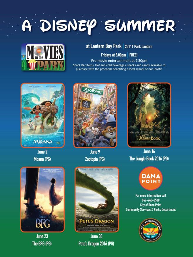 Dana Point Movies in the Park June 2017