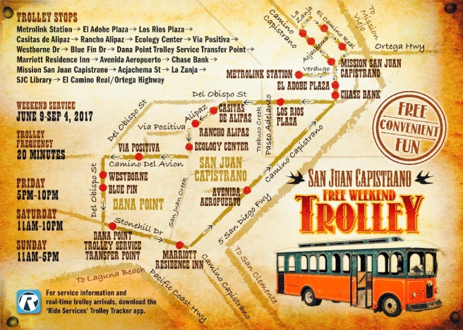 San Juan Capistrano Trolley Summer 2017 Map