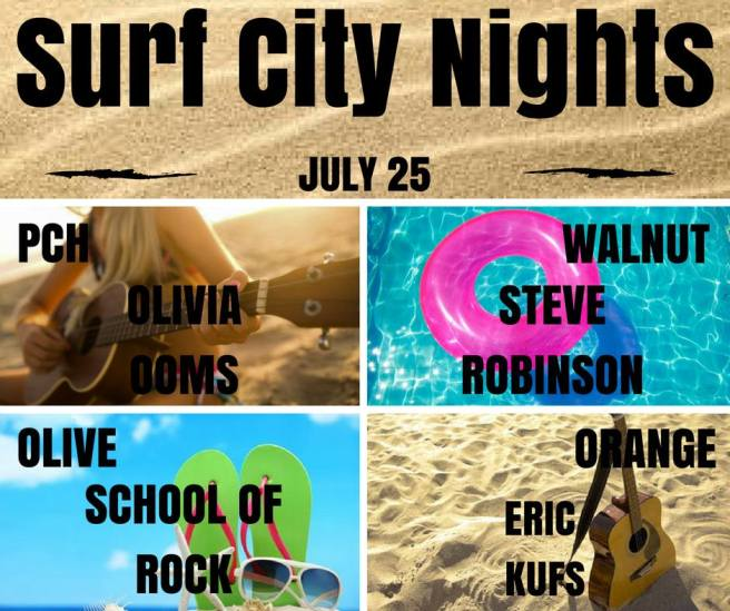 Huntington Beach Surf City Nights Music Lineup July 25 2017
