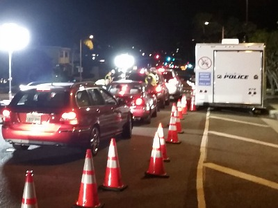 Laguna Beach DUI Checkpoint Courtesy of LagunaBeachCity.net