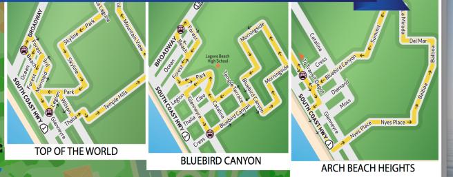 Laguna Beach Neighborhood Transit Maps 2017