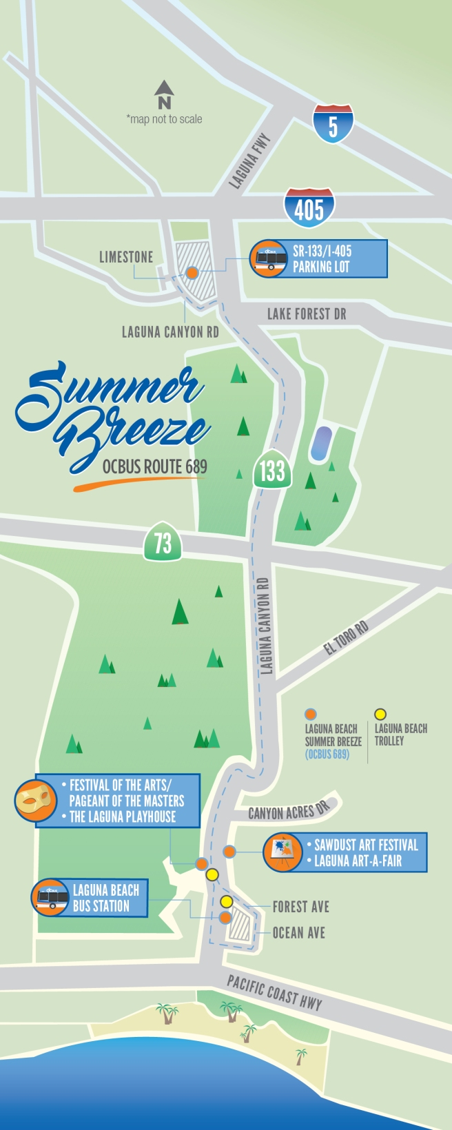 Laguna Beach OCTA Summer Breeze 2017 Map