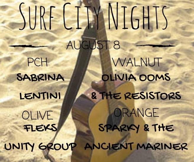 Huntington Beach Surf CIty Nights Music Lineup August 8 2017