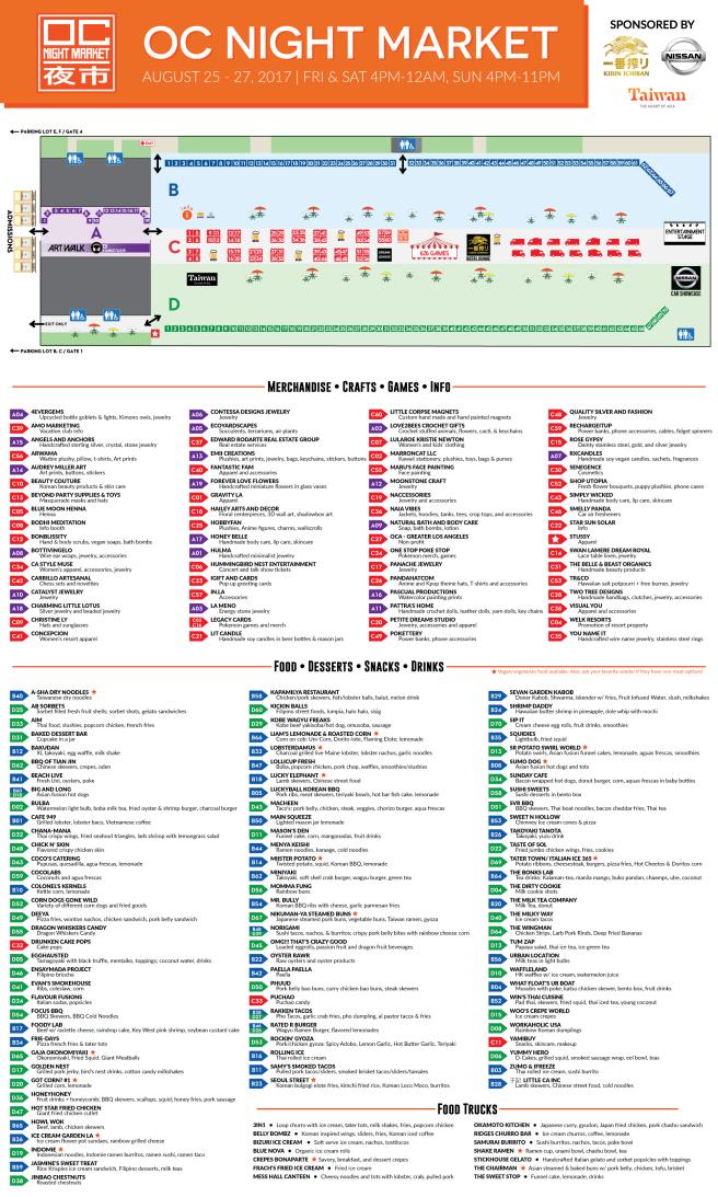 OC Night Market Map August 2017