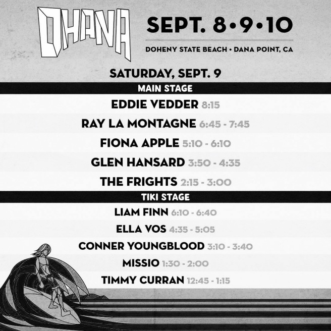 Ohana Fest Doheny State Batch Saturday September 9 2017 Set List