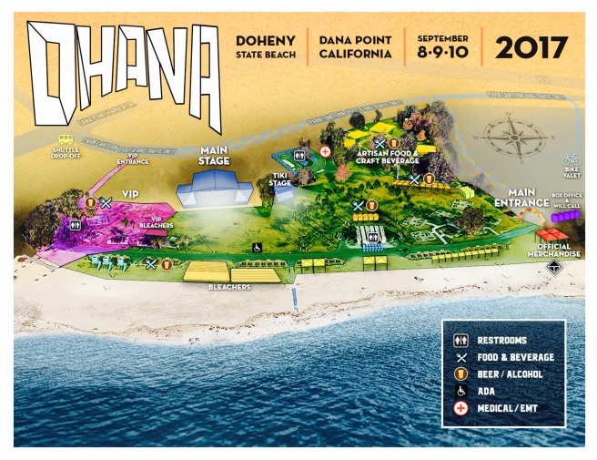 Ohana Fest Doheny State Beach 2017 Event Map