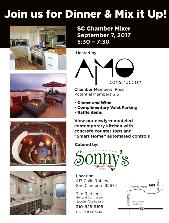 San Clemente Chamber Sunset Mixer September 7 2017