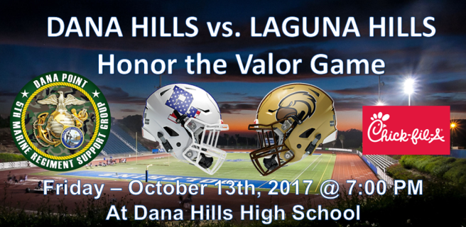 Dana Hills High School Honor the Valor October 13 2017