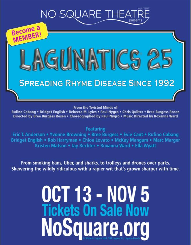 Laguna Beach No Square Theatre Lagunatics Fall 2017