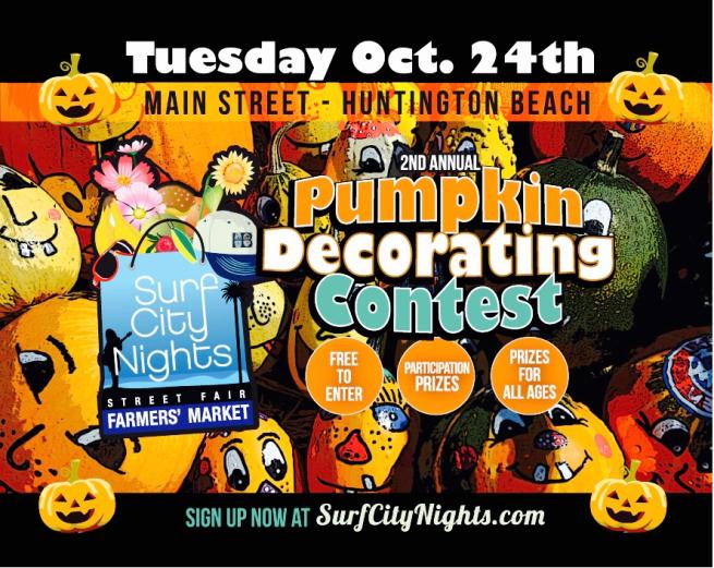 Huntington Beach Surf City Nights Pumpkin Decorating Contest October 24 2017