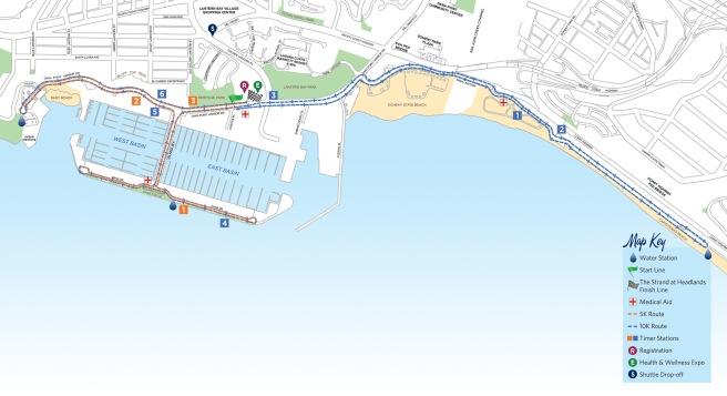 Dana Point Turkey Trot 2017 Course Map
