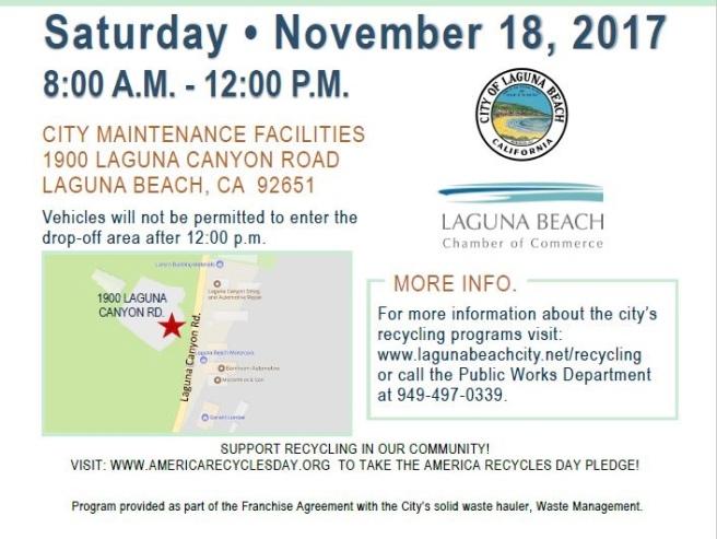 Laguna Beach Recycling Day November 18 2017