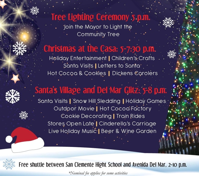 San Clemente Holiday Celebration December 2 2017