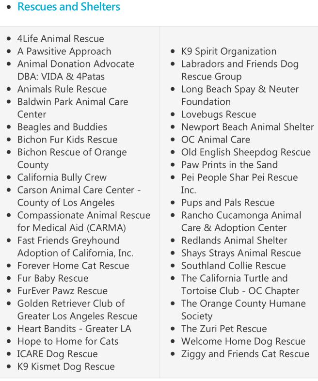 Irvine Home For The Holidays Pet Adoption Rescue Organizations 2017